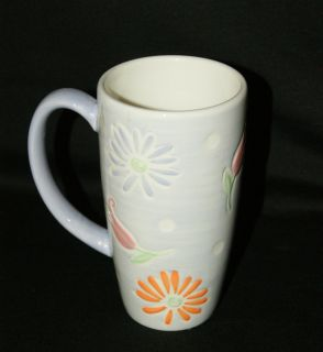 Starbucks Coffee Large Cup Mug 2007 Pink Orange Floral