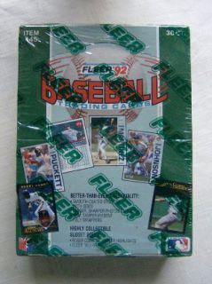 1992 Fleer Baseball Factory SEALED Wax Box 36 Packs