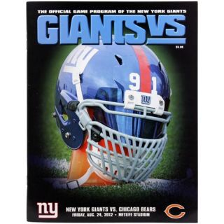 New York Giants vs Chicago Bears 2012 Game Day Program