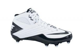 Nike Super Speed D 3/4 White/Black Football Cleat 396253 101
