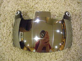 Oakley Football Silver Mirrored Eyeshield w Anti Water Smudge