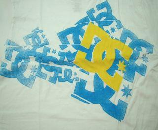 DC Shoes T Shirt White Feist Tee Mens Size Small Tshirt Skateboard