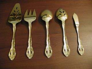 1847 Rogers Bros Is Golden Felice Gold Electroplated Flatware 45 Piece