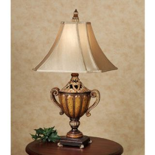 ... Tuscan French Decor Fleur De Lis Table Lamp Gold Brown ...