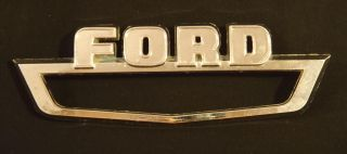 1964 Ford Pickup Truck Fender Badge Original Chrome Emblem Cowl Trim