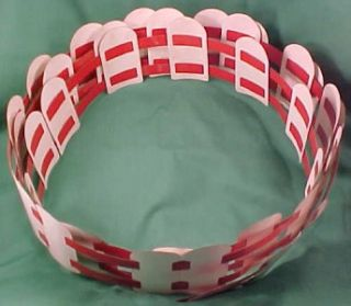 10 ft Vintage Red White Aluminum Christmas Yard Fence