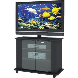 Elite Black Glass 36 inch Flat Panel TV HDTV Stand