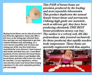 Crossdresser Silicone Breast Forms High Wide Style