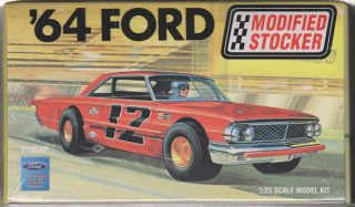 1964 Ford Galaxie 500 Modified Stocker Race Car Kit 1/25 AMT #21858P