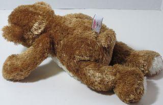 Gund Fleming Shaggy Soft Sandy Brown Teddy Bear Bean Filled Stuffed