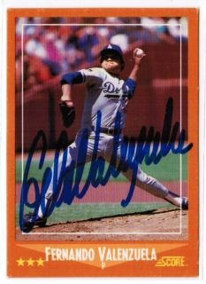 Fernando Valenzuela Signed Card Autograph Dodgers Auto JSA