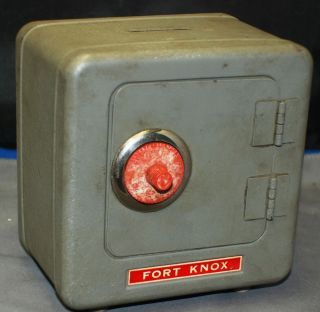 Fort Knox Bank Safe with Combination Lock Vintage