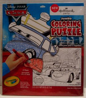 Disney Cars Birthday Party Jumbo Coloring Floor Puzzle