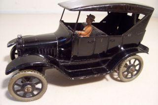 GERMAN BING TIN WIND UP CLOCKWORK FORD MODEL T TOURING CAR VEHICLE TOY