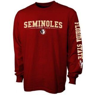 Florida State Seminoles FSU Garnet Standard Long Sleeve T Shirt