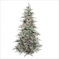 Prelit Flocked Vail Artificial Christmas Tree OUR SKU# RGI1058