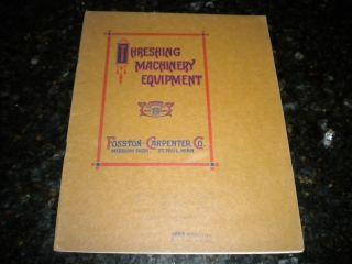 brochure Threshing Machinery equipment Fosston Carpenter St Paul MN