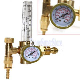 Argon CO2 Mig Tig Flow meter Welding Weld Regulator Gauge Gas Welder