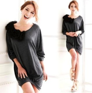 L758 Womens Flora Neck Casual Bat Sleeve Princess Top T Shirt Blouse