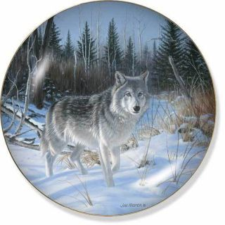 Wolf Collector Plate by Jim Kaspar Wild One Wolf Gifts