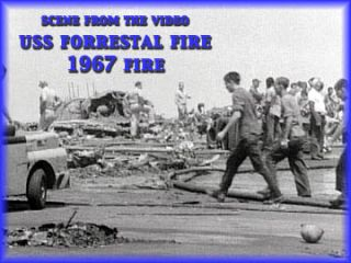 USS Forrestal Fire 1967 Aircraft Carrier Navy Vietnam