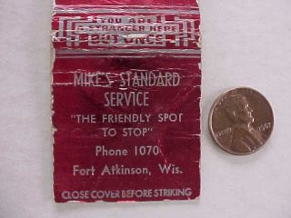 1950s Era Fort Atkinson Wisconsin Standard Oil Gas service station