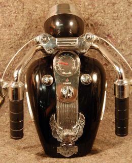 HARLEY DAVIDSON Gas Tank Portable AM/FM RADIO   Working Headlight