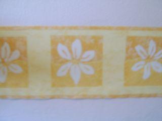 Yellow Daisy Flower Bed Room Wallpaper Border New 5M