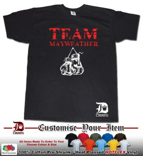 Team MAYWEATHER T Shirt Floyd MAYWEATHER Tshirt Money Team Boxing
