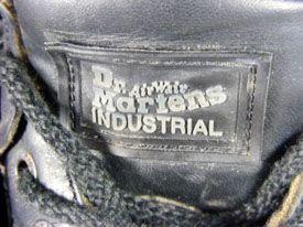 Dr. Marten Air Wair Industrial Black Grunge Boots Size 4 6 Unisex