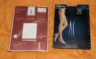 Sheer to Waist Satin Shiny Silky Fogal Glory Pantyhose Tights L