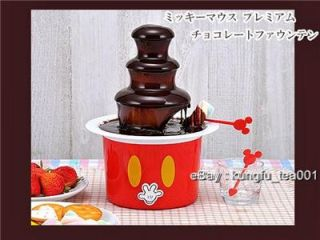 Mickey Mouse 3 Tier Chocolate Fountain Party Fondue New