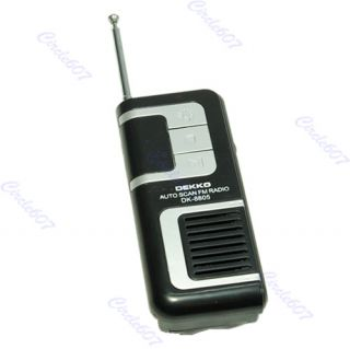 belt clip auto scan fm radio receiver with flashlight earphone