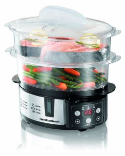 Hamilton Beach Digital Food Steamer Meat Vegetables Fish Cooker New