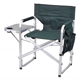 Camping Folding Sport Director Chair w Table 1204GREEN