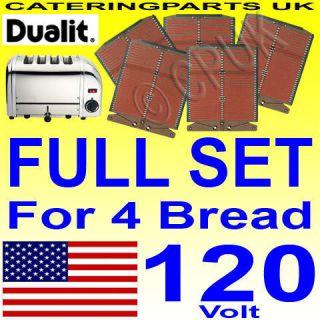 Dualit 4 Slot Bread Toaster Heating Elements Full Set
