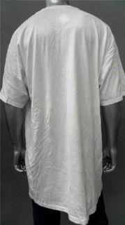 Foot Locker Mens Tall Cotton Basic T Shirt Sz 3XLT White Short Sleeve
