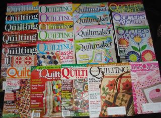 Big Lot Quilt Magazines Fons Porter Quiltmaking Quilters World Many