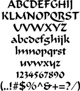Oak Calligraphy Font Wooden Letters Number Names Wood 2 to 12 Symbols