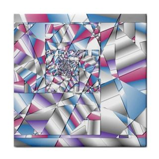 Picasso Speaks Stained Glass Fractal Ceramic Tile