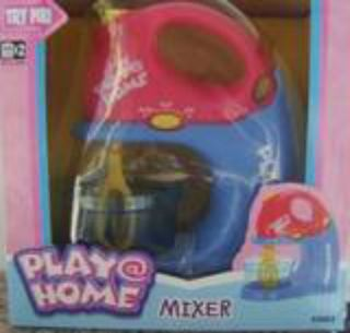 Child Kid Toy Kitchen MIXER Play Food *Really Spins* 2 beaters & Bowl