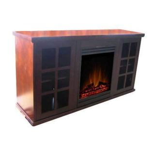 Damay 500W 1000W White Electric Fireplaces Heater w Remote US Stock