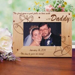 Personalized Father of The Bride Picture Frame Bride and Dad Wedding