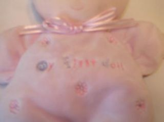 Just One year My First doll Brown hair baby doll rattle lovey 8