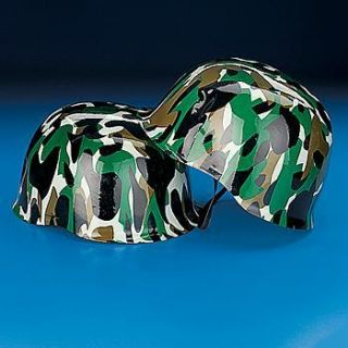 Army Hats Dozen Kids Birthday Party Favors Helmet Camouflage
