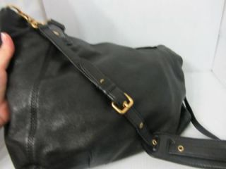 Marc by Marc Jacobs Classic Q Francesca Black Leather Tote Bag Purse