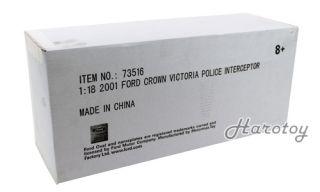 Ford Crown Victoria Police Interceptor 1 18 BK WH