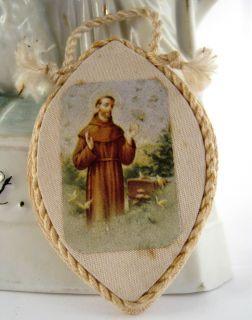 Antique French Detente Handmade St Francis