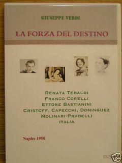 Verdi La Forza Del Destino Italian Opera Franco Corelli DVD