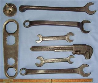 old vintage ford model t tool kit wrenches antique tools radiator cap